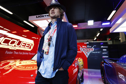Actor Owen Wilson in the Cars 3 promotional garage