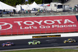 Denny Hamlin, Joe Gibbs Racing Toyota, Kyle Busch, Joe Gibbs Racing Toyota, Martin Truex Jr., Furniture Row Racing Toyota