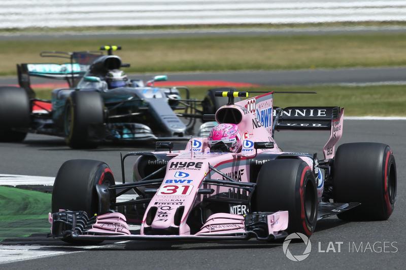 Естебан Окон, Sahara Force India F1 VJM10, Валттері Боттас, Mercedes AMG F1 W08