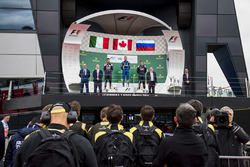 Podio: ganador de la carrera Nicholas Latifi, DAMS, segundo lugar Luca Ghiotto, RUSSIAN TIME, tercer lugar Artem Markelov, RUSSIAN TIME