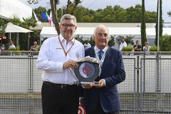 Ross Brawn, Managing Director of Motorsports, FOM, Alberto Bombassei, Brembo President