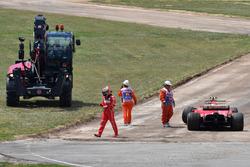 Race retiree Kimi Raikkonen, Ferrari SF70H