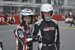 豊田章男社長とトミ・マキネン(Akio Toyoda & Tommi Makinen)