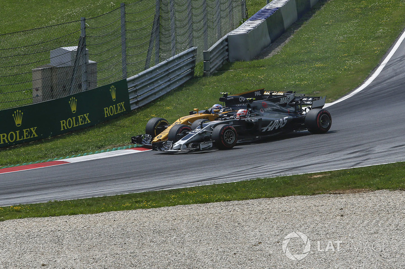 Кевін Магнуссен, Haas F1 Team VF-17, Джоліон Палмер, Renault Sport F1 Team RS17