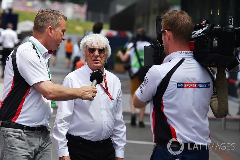Craig Slater, Sky TV talks with Bernie Ecclestone