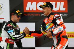 1. Chaz Davies, Ducati Team, 2. Jonathan Rea, Kawasaki Racing