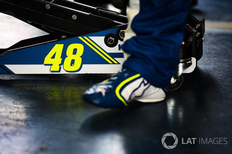 Schuhe von Jimmie Johnson, Hendrick Motorsports