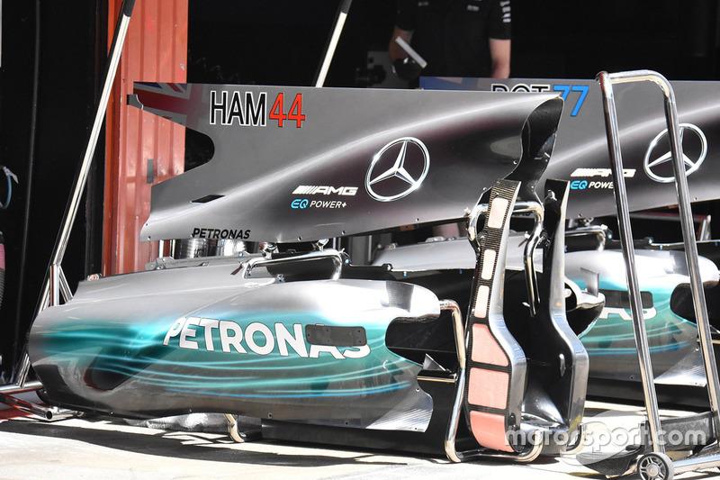Элементы кожуха Mercedes AMG F1 W08 Льюиса Хэмилтона