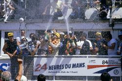 Podium: Klaus Ludwig, Henri Pescarolo, Porsche 956