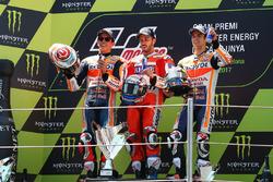 Podio: secondo Marc Marquez, Repsol Honda Team, il vincitore Andrea Dovizioso, Ducati Team, terzo Dani Pedrosa, Repsol Honda Team