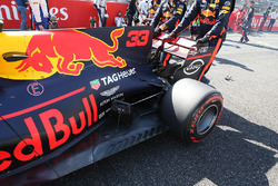 Max Verstappen, Red Bull Racing RB13 rear detail