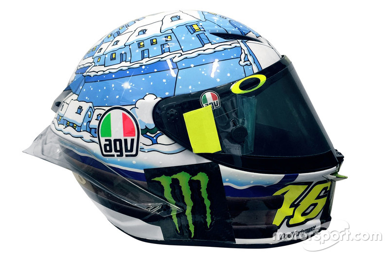 Helm van Valentino Rossi, Yamaha Factory Racing