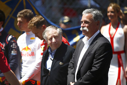 Jean Todt, President, FIA, Chase Carey, Chairman, Formula One