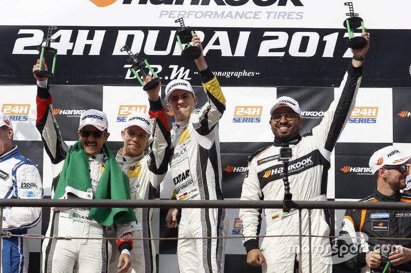 Podium: Winner 991 #68 Black Falcon Porsche 991 Cup: Saud Al Faisal, Saeed Al Mouri, Anders Fjordbach, Alexander Toril