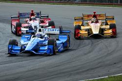 Scott Dixon, Chip Ganassi Racing Honda, Ryan Hunter-Reay, Andretti Autosport Honda