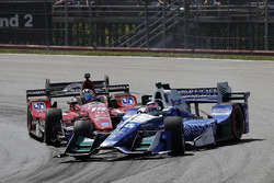 Graham Rahal, Rahal Letterman Lanigan Racing Honda Takuma Sato, Andretti Autosport Honda crash