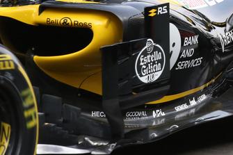 Dettaglio del deviatore di flusso sulla Renault R.S. 18 di Nico Hulkenberg
