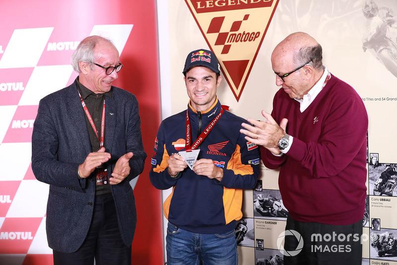 Vito Ippolito, Presidente de la FIM, Dani Dani Pedrosa, Repsol Honda Team, Carmelo Ezpeleta, CEO Dorna Sports