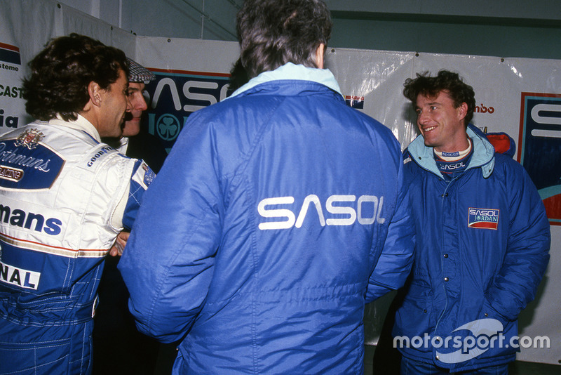 Ayrton Senna, Williams ve Eddie Irvine, Jordan