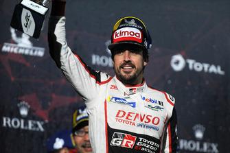 Second place overall #8 Toyota Gazoo Racing Toyota TS050: Fernando Alonso