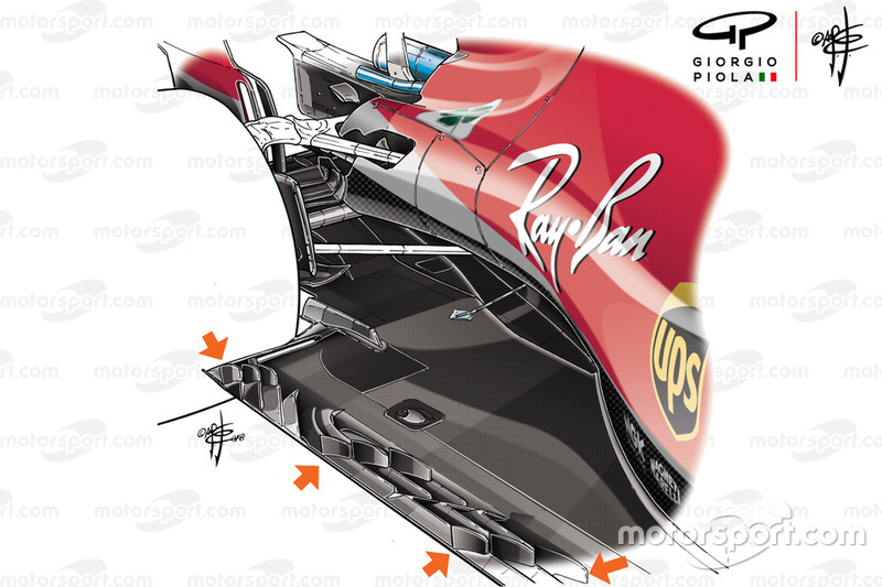 Ferrari SF71H floor, United States GP