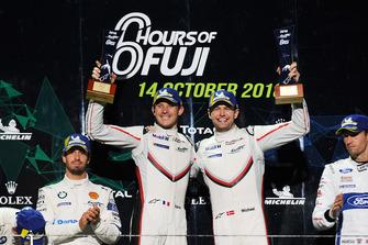 Podium GT Pro: winners #92 Porsche GT Team Porsche 911 RSR: Michael Christensen, Kevin Estre