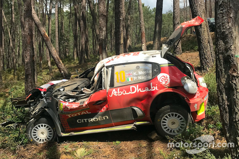 Kris Meeke, Paul Nagle, Citroën C3 WRC, Citroën World Rally Team, choque