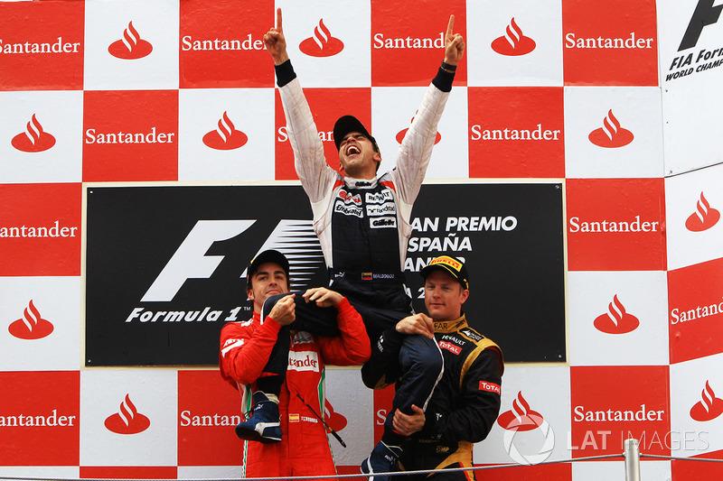 Для начала, первые семь гонок 2012 года выиграли семь разных гонщиков. Включая (кто бы мог подумать!) Пастора Мальдонадо. Та победа Williams до сих пор остается последней в истории команды сэра Фрэнка