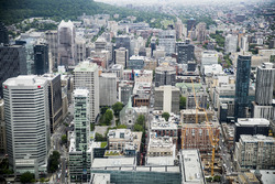 A scenic view of downtown Montreal