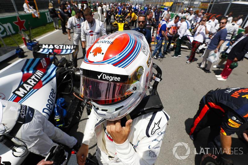 Lance Stroll, Williams Racing, sur la grille