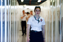 A Williams F1 team member