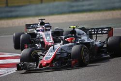 Kevin Magnussen, Haas F1 Team VF-18 Ferrari, Romain Grosjean, Haas F1 Team VF-18 Ferrari