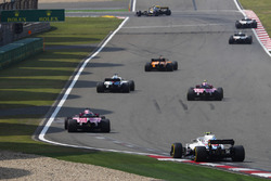 Fernando Alonso, McLaren MCL33 Renault, Lance Stroll, Williams FW41 Mercedes, Esteban Ocon, Force India VJM11 Mercedes, Sergio Perez, Force India VJM11 Mercedes, et Sergey Sirotkin, Williams FW41 Mercedes