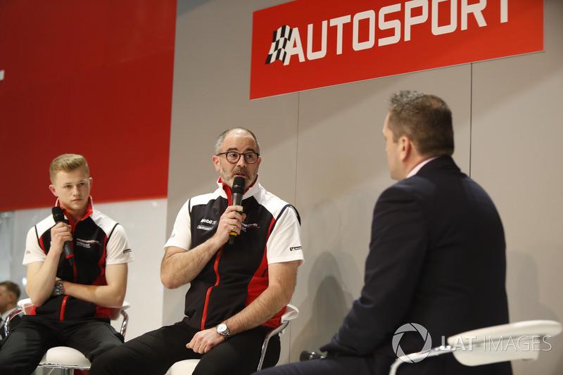 James McNaughton and Dan Harper of Porsche