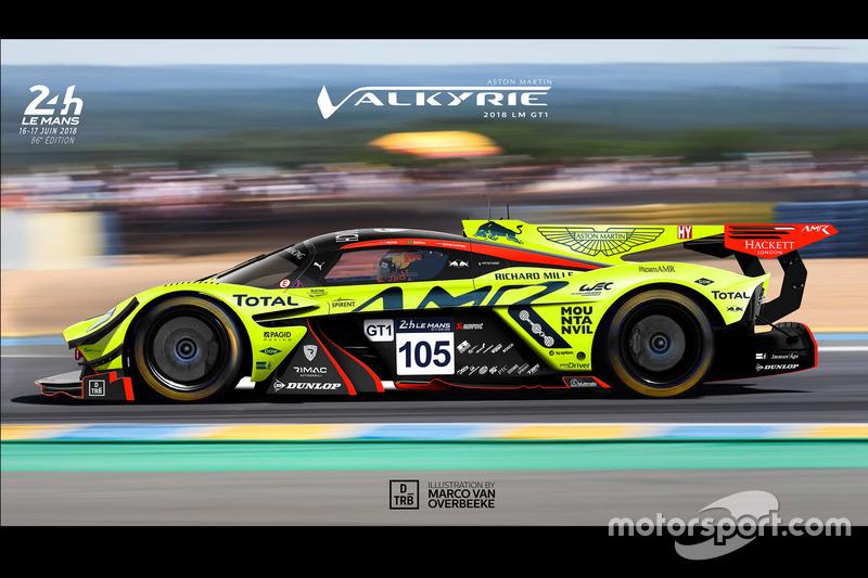 Ilustrasi Aston Martin Valkyrie GT1