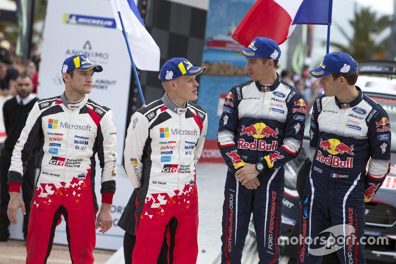 Podium: second place Ott Tänak, Martin Järveoja, Toyota Gazoo Racing WRT Toyota Yaris WRC, Winners S