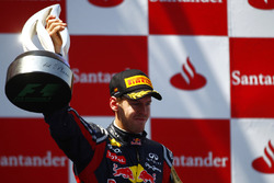 Podium: race winner Sebastian Vettel, Red Bull Racing RB7