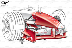 Toyota TF103 2003 front wing and nose