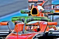 McLaren MCL32: c'è la vernice flow viz anche sull'Halo!