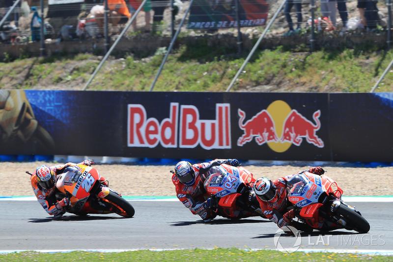 Jorge Lorenzo, Ducati Team, Andrea Dovizioso, Ducati Team, Dani Pedrosa, Repsol Honda Team