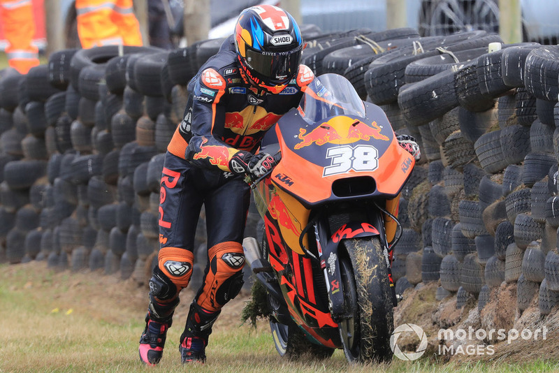 Bradley Smith, Red Bull KTM Factory Racing,after crash