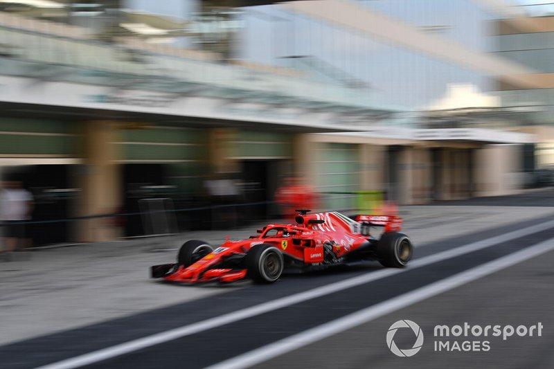 Charles Leclerc, Ferrari SF71H, con una parte della carrozzeria mancante