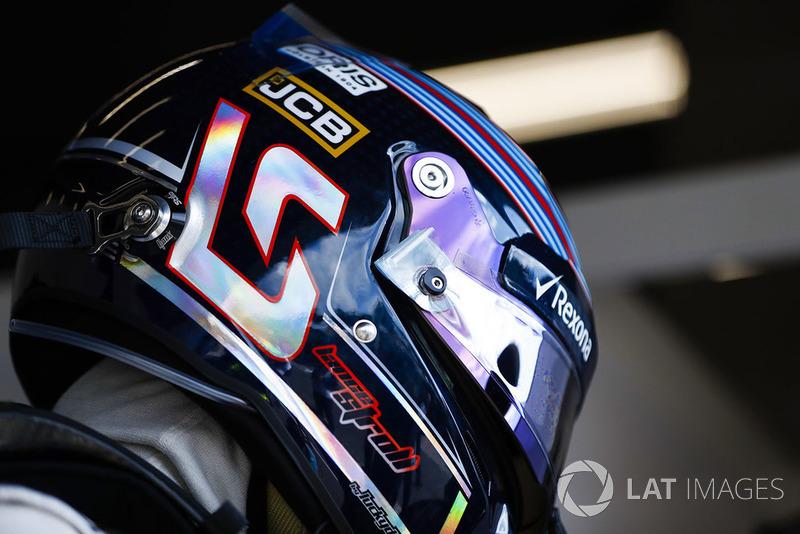 Le casque de Lance Stroll, Williams Racing