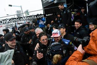#10 Konica Minolta Cadillac DPi-V.R. Cadillac DPi, DPi: Renger Van Der Zande, Jordan Taylor, Fernando Alonso, Kamui Kobayashi - Team owner Wayne Taylor speaks with NBC following victory.
