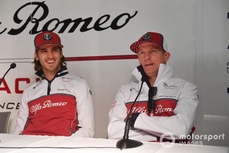 Antonio Giovinazzi, Alfa Romeo Racing e Kimi Raikkonen, Alfa Romeo Racing in Conferenza stampa