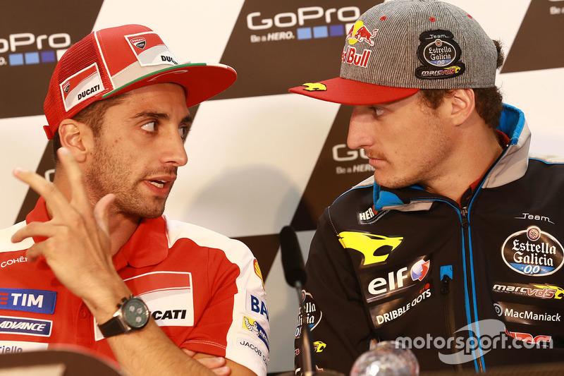 Andrea Iannone, Ducati Team and Jack Miller, Marc VDS Racing Honda