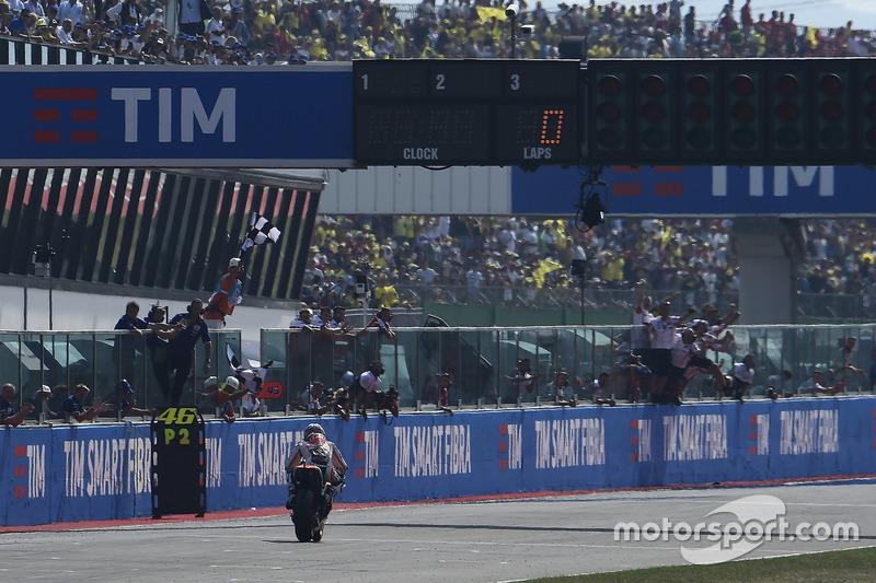 Dani Pedrosa, Repsol Honda Team takes the checkered flag
