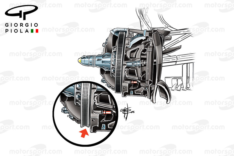 Mercedes W07 brake disc, German GP