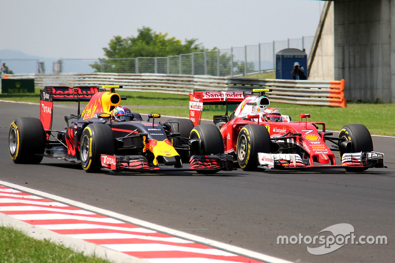 Max Verstappen, Red Bull Racing RB12, Kimi Raikkonen, Ferrari SF16-H
