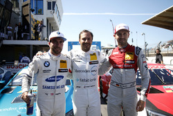 Top 3 na de kwalificatie, Polesitter Gary Paffett, Mercedes-AMG Team HWA, Philipp Eng, BMW Team RBM, René Rast, Audi Sport Team Rosberg